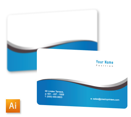 Top 10 free business card design templates of 2014 generic silver wave business card template fbccfo Image collections